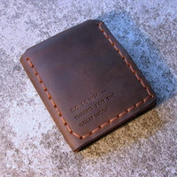 The Secret Life Of Walter Mitty Vintage Organizer Wallet Handmade Top Quality Card Holder Crazy Horse