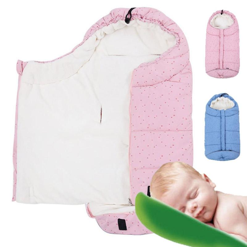 Baby sleeping Bag winter thick Envelope for newborns sleep thermal sack Cotton kids sleep sack in the carriage wheelchairs A1 цены