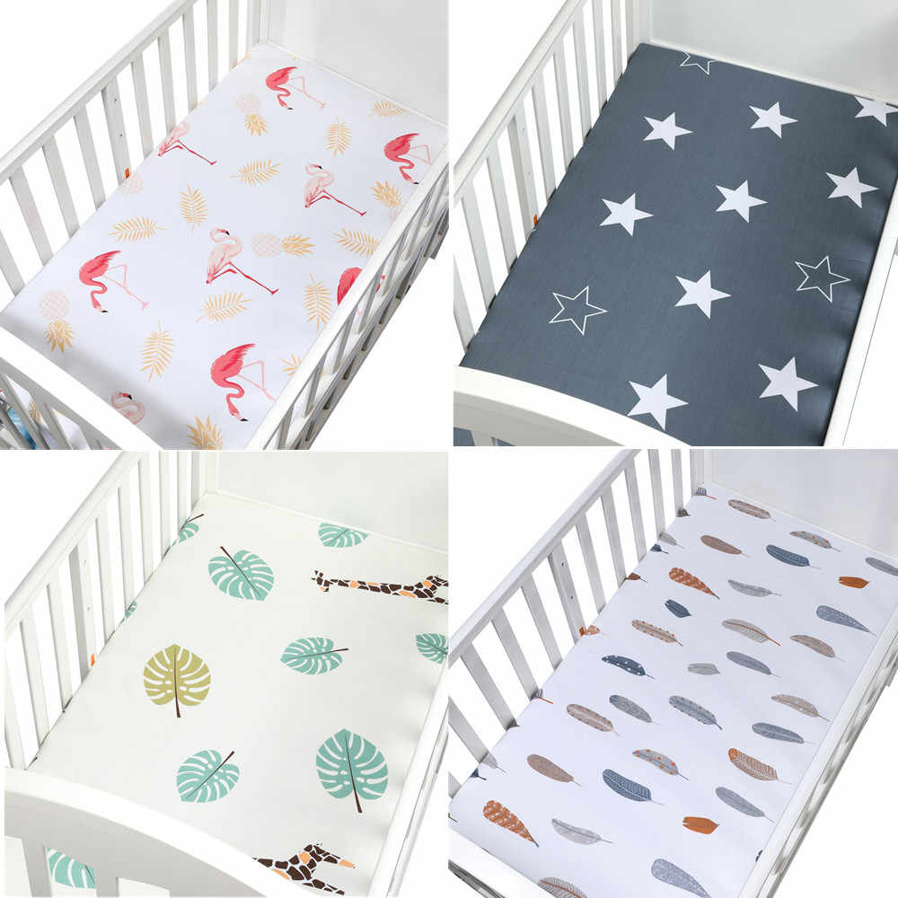 max size 60cmx105cm 100% Cotton crib fitted sheets soft baby bed mattress covers Newborn toddler bedding set kids mini cot sheet