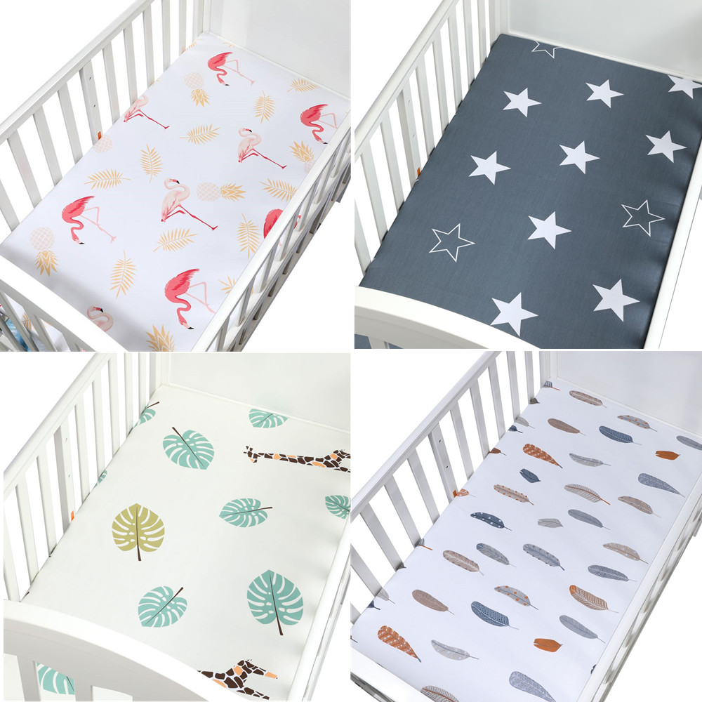 Cok Fitted Crib Sheet Breathable Cozy and Hypoallergenic Baby Crib Sheet for Standard Crib and Toddle Mattress. 1 Pack, Flamingo 100/% Cotton