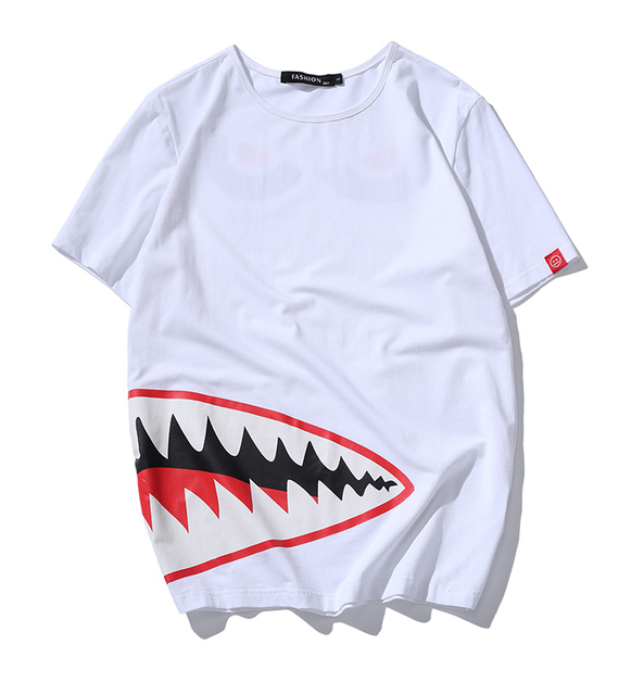 3D Shark Printed Men's T-Shirt