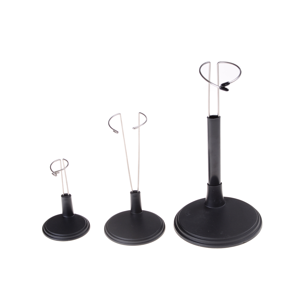 White C-type Stand Display Holder fit for Doll Model Adjustable 14-20cm Toy