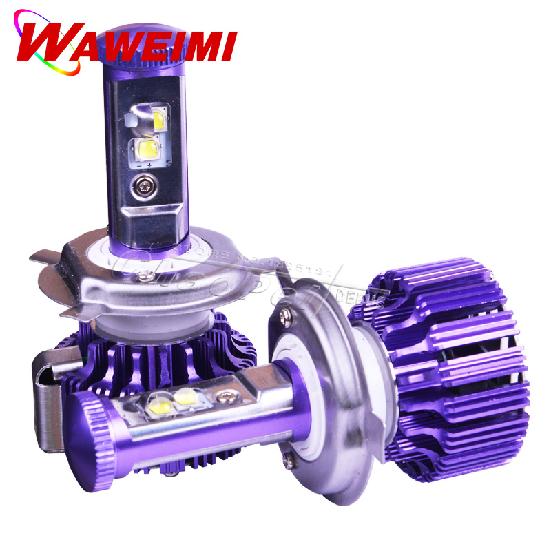 Hi/lo Newest H4 LED Car Headlight High Low 40W 4000LM White 6000K Repalcement Car Styling Purple Color Unique Style Headlight