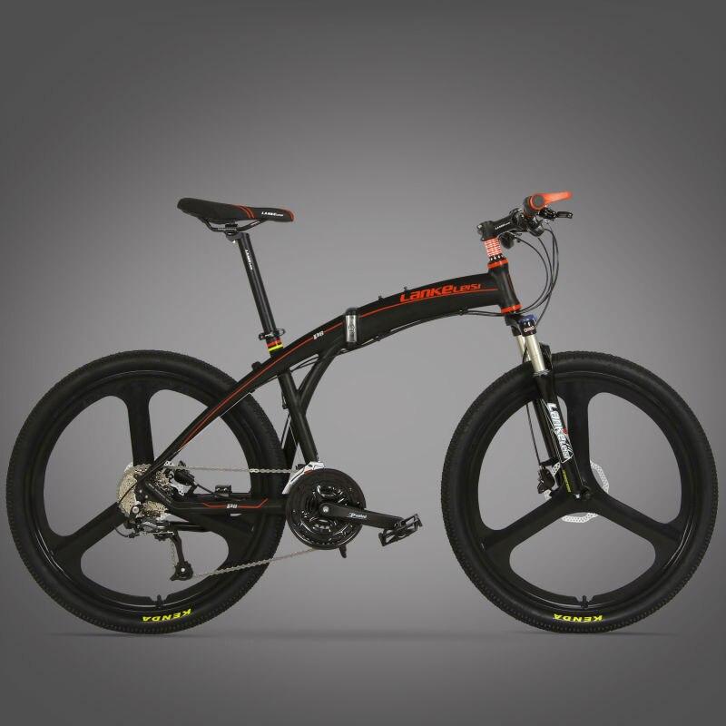 Lankeleisi P8 Мана складной горный велосипед Полный Подвеска 17 x 26 дюймов Алюминий сплав Рамки 27 скоростей двойной диск тормоз