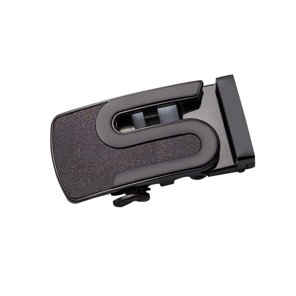 Barry. Wang ceintures en cuir de Crocodile avec boucle automatique ceinture de marque de luxe en cuir véritable ceintures marron noir pour HZ-0045 masculin - 2