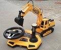 1/20 escala rc caminhão elétrico rc escavadeira controle remoto 4WD camiões de construção controle de volante