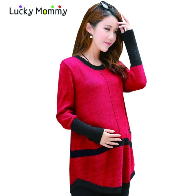 2017 New Fall Winter Maternity Pullover Sweaters Loose Casual Pregnancy Clothes for Pregnant Women Plus Size Women's Clothing