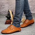 Hot Sales Man's Handmade Genuine LeatherSshoes Soft Outsole Comfortable Popular Casual Leather Shoes Plus Size Shoes Male Shoes