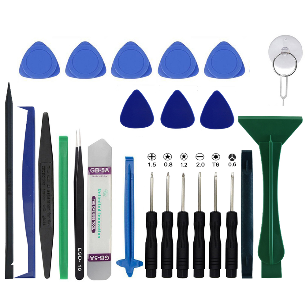 25 in 1 Mobile Phone Repair Tools Kit Pry Opening Tool Screwdriver Set for iPhone 7 6S 6 Samsung Phone Hand Tools Set new professional 38 in 1 mobile phone repair tools kit opening screwdriver for iphone 5s 5 4s 4 sumsang mulitifuntion tool set