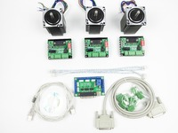 CNC Router Kit 3 Axis 3pcs 1 Axis TB6560 Driver One Interface Board 3pcs Nema23 312