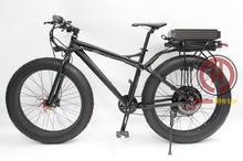 Powerful Fat Tire 48V 1000W 26″ Total Black Electric Bicycle Snow Ebike Rear Carrier 48V 20AH Lithium Battery Multi Color Wheel