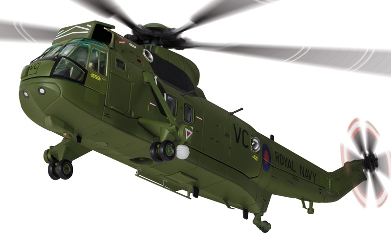 Corgi 1/72 British Navy The sea king helicopter Falklands War AA33421 Alloy collection model Holiday gift av72 1 72 the british ah 1 gulf war av7224005 gazelle helicopter alloy collection model holiday gift