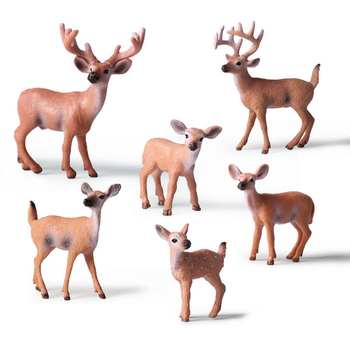 1PC Home Party Decoration Static Decor Xmas Cute 1pc HOT PVC Deer Figure Christmas Fashion Family of Three Doll 1