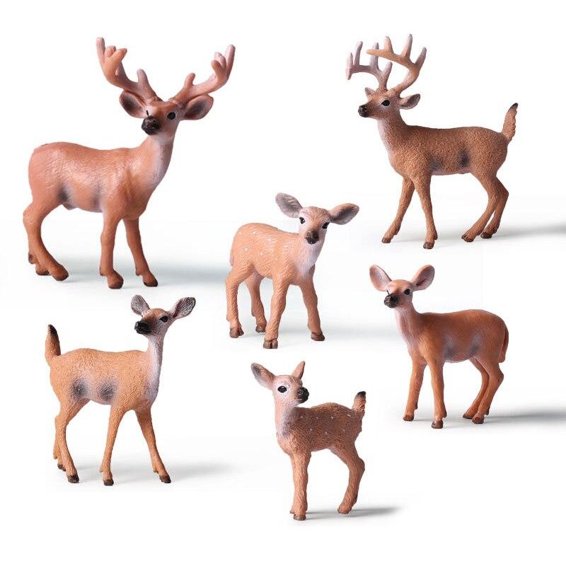 Home Party Decoration Static Decor Xmas Cute 1pc HOT PVC Deer Figure Christmas Fashion Family of Three Doll
