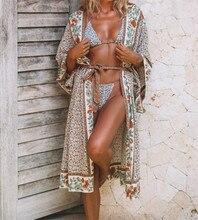 2019 Bohemian Printed Cover-ups Sexy Summer Beach Dress Cotton Tunic Women Beachwear Swimsuit Cover Up Bikini Wrap Sarongs Q675