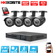 4CH CCTV System 1080P HDMI AHD 4CH CCTV DVR 4PCS 1.3 MP IR Outdoor Security Camera 960P Waterproof Camera Surveillance System
