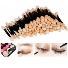 30PCS Disposable Eyeshadow Brushes Dual Sided Sponge Nylon Sets & Kits Eye Shadow Brushes Makeups For Cosmetic Applicator Makeup