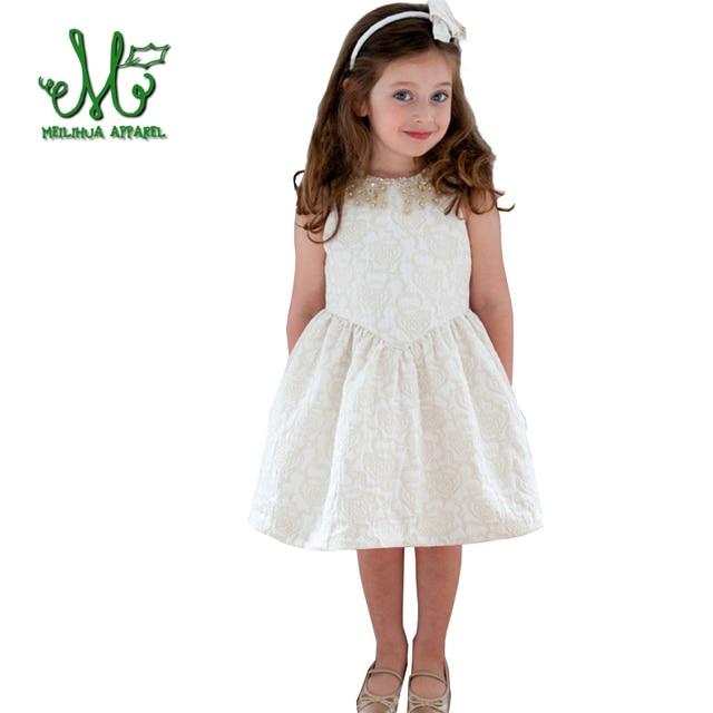 8b2bb1563 Verano Niñas moda lindo vestido para niña princesa vestido de fiesta para  niña sin mangas vestido