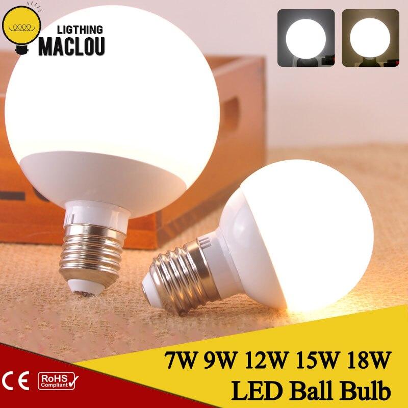 LED Bulbs E27 18W 15W 12W 9W 7W 110V 220V LED Lamp Energy Saving Ampoule Lampadas LED Ball Bulb Bubble Lights For Home Lighting