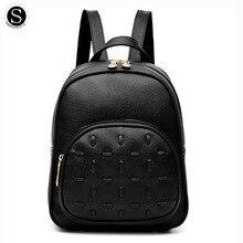 Senkey СТИЛЬ известных брендов женщин рюкзак ткань кожа маленький ученик Дизайнер Рюкзак Школьные сумки для подростков 2017 PU сумки