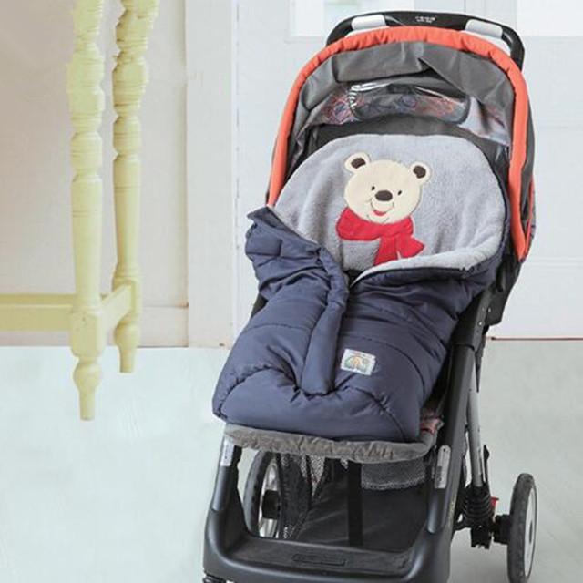 0-12 Meses Carrinho de Bebê Saco de Dormir de Inverno de Algodão Sacos de Dormir Do Bebê Recém-nascido Sleepsacks Carrinho Cesta Infantil Fleabag Grosso NWT