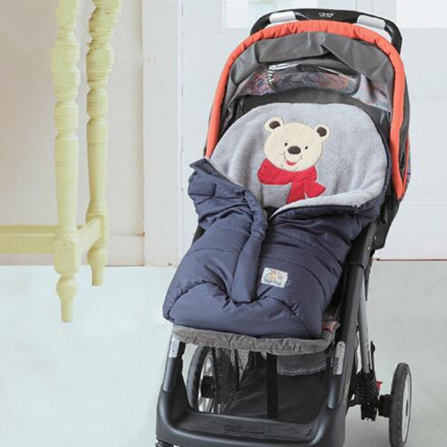 0-12 Months Baby Sleeping Bag Winter Stroller Sleeping Bags Newborn Sleepsacks Baby Cart Basket Infant Fleabag Cotton Thick NWT