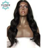 Oulaer 13 6 Deep Part Glueless Lace Front Human Hair Wigs Peruvian Non Remy Hair Body