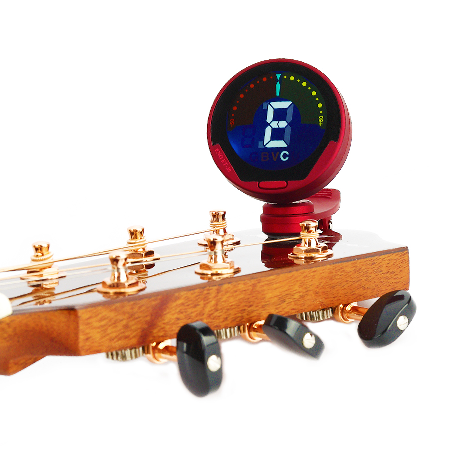 Eno ET-39 Professional Clip Digital Tuner For Guitar/Bass/Ukulele/Violin/Chromatic Full Color Display Large LCD 360 Degree