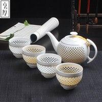 Chinese Tea sets 4pcs teacup 1pcs teapot. Kung Fu tea wholesale The highest sales of tea set.The most creative Coffee cup