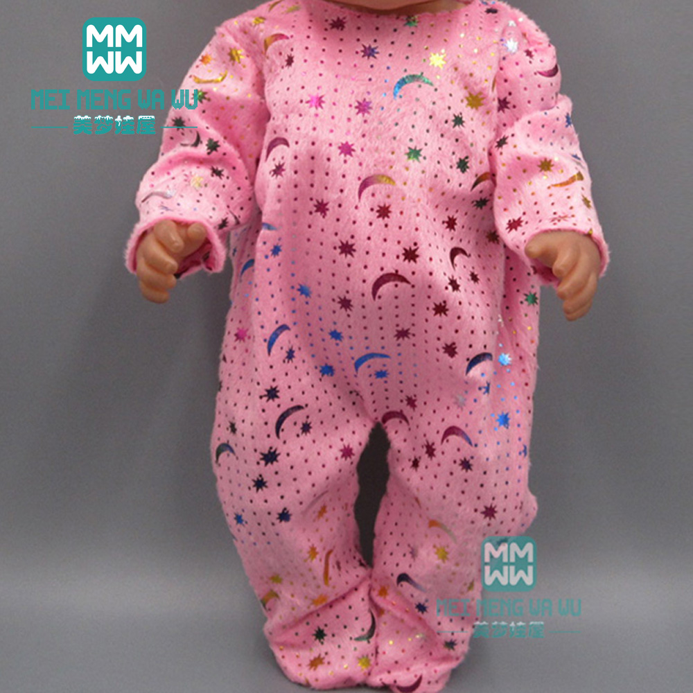 Doll Clothes For 43cm Toy New Born Doll Accessories Pink Siamese Crawling Clothes Baby Clothes