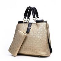 2018 summer new women's bag ladies handbags Europe and the United States big Platinum bag fashion embossed handbags