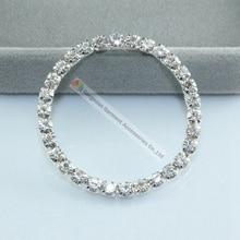 10 шт. 40 мм 50 мм 57 мм Чешский прозрачный кристалл пряжка 4 мм Камни розовое золото серебро набор для DIY Browband украшения rhinestone кольцо