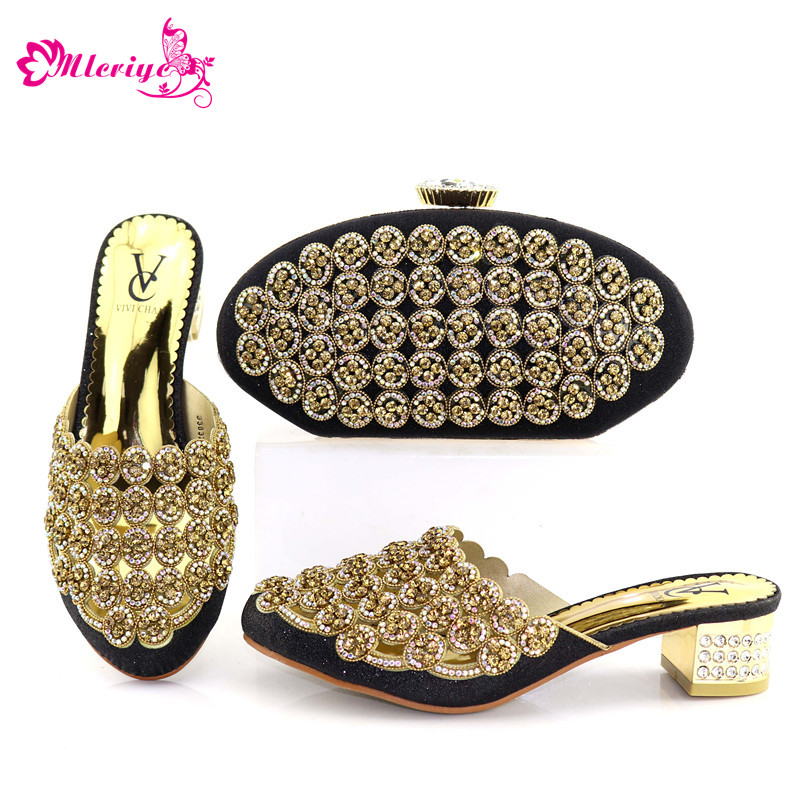New Arrival BLACK African Shoes And Matching Bags Italian Nigerian Shoes And Matching Bags Latest Shoes And Bag Set African Set doershow new arrival italian shoea matching bag african woman shoes and bag set free shipping by dhl hzl1 18