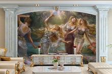 Home Improvement - Painting Supplies  - Custom 3d Photo Wallpaper 3d Wall Murals Wallpaper European Beauty Painting TV Setting Wall Paper 3d Living Room Wall Decoration