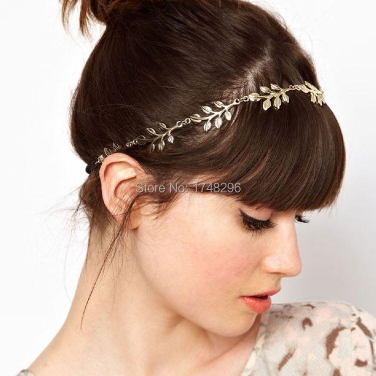 New Fashion leaves Head Jewelry Olive Leaves Headband Elastic Hair Band  Headband fb6ccec4dd6