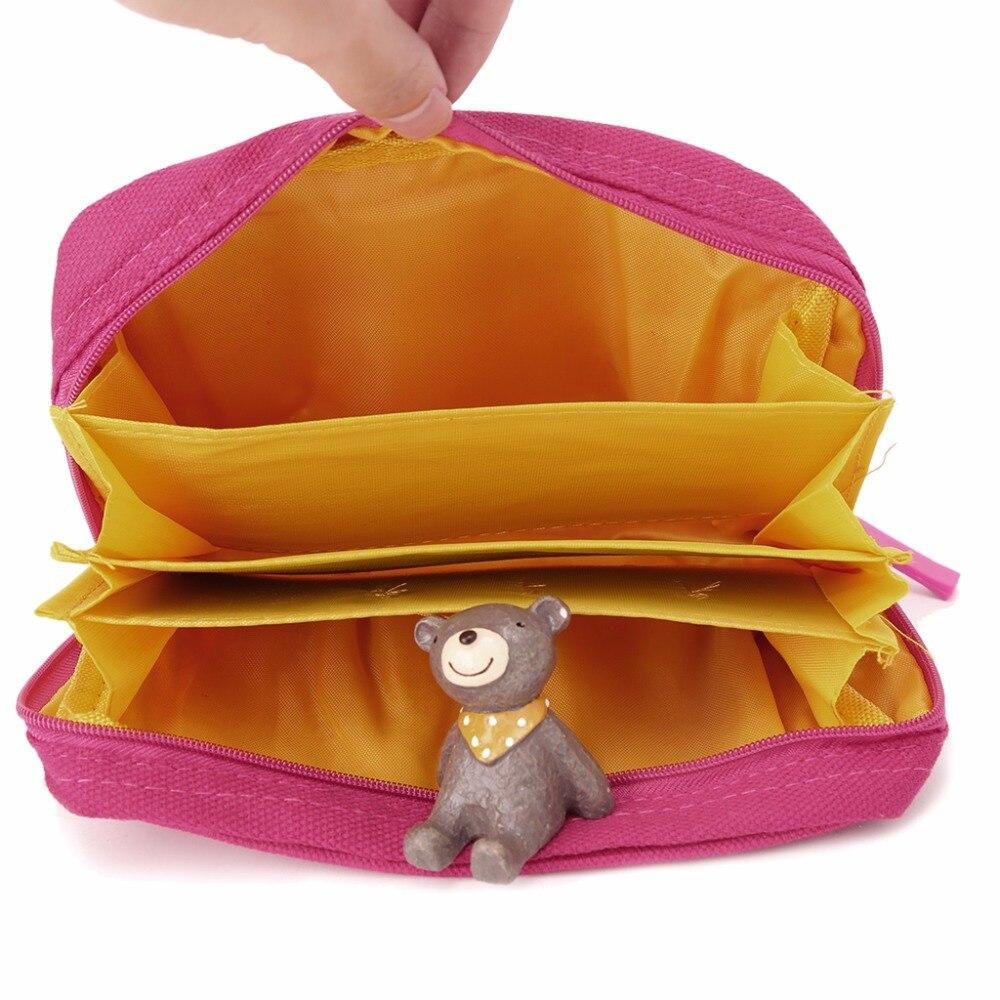 THINKTHENDO Women Multifunction Makeup Travel Cosmetic Bag Pouch Toiletry Organizer Bag Zip Handbag Make up Bags 4 Color