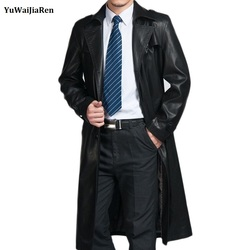 Classic brand men genuine leather trench coat x long thick man sheepskin pea parka male outwear.jpg 250x250