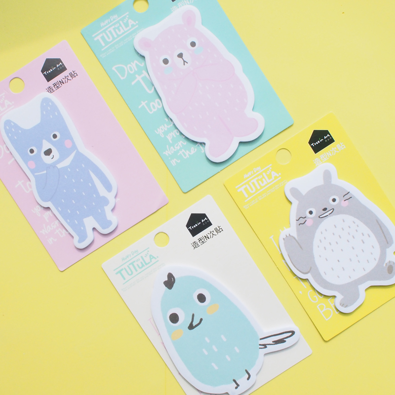 W29 Cute Kawaii Totoro Tutula Memo Pad Sticky Notes Writing Notepads Post it School School Office Supply Stationery Sticker