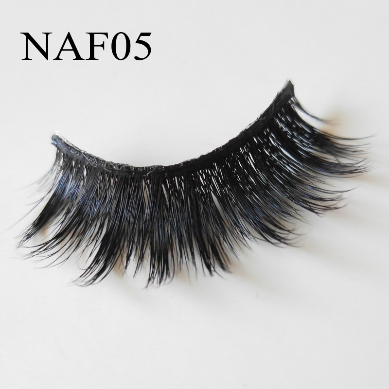 Natural Long Mink Eyelashes False Eyelash 3D Mink Lashes ...