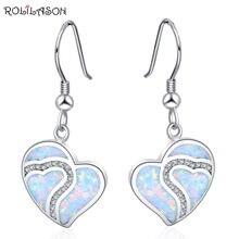 Rolilason маленькие свежие серьги в форме сердца посеребренные