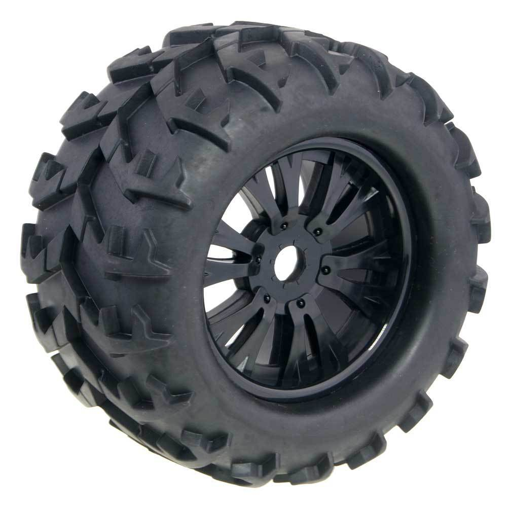 4Pcs 3.2 Rubber RC 1/8 Monster Truck Wheels & Tires 150mm For 17mm Hex Hub Mount For Traxxas HSP HPI Baja Tyre 4pcs lot 2 2 rubber tires tyre plastic wheel rim 12mm hex for redcat exceed hpi hsp rc 1 10th off road monster truck bigfoot