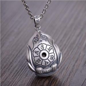 Image 4 - NEUE 990 Silber Tibetischen Avalokitesvara Bodhisattva Anhänger Halskette Silber Kuanyin Anhänger Guanyin Buddha Amulett Glück