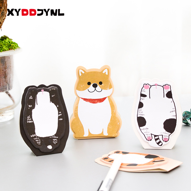 1 PCS Kawaii Black Cats Memo Pad Sticky Notes Memo Notebook Stationery Notebook