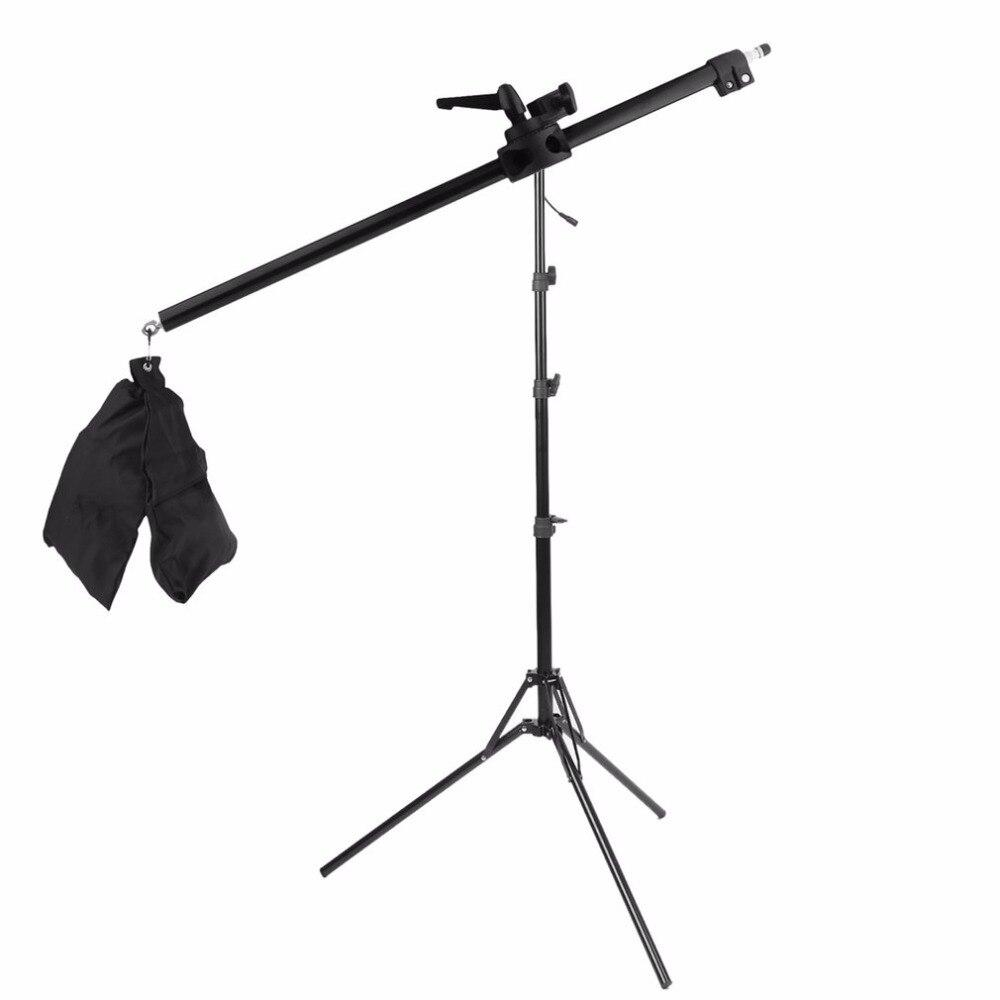 78-141 CM Foto Studio Boom Arm Top Stativ Mit Gewicht Tasche Kit Fotostudio Zubehör Verlängerungsstange