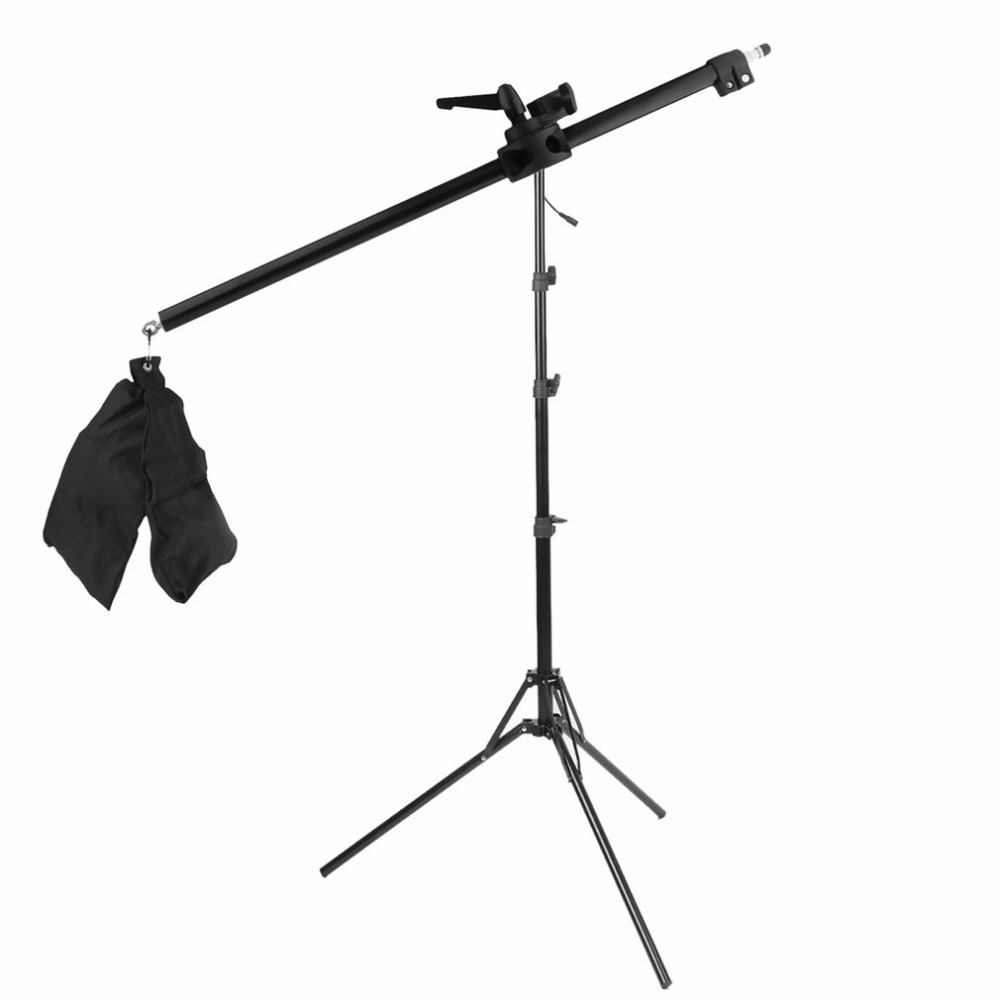 78-141CM Photo Studio Boom Arm Top Light Stand With Weight Bag Kit Photo Studio Accessories Extension Rod