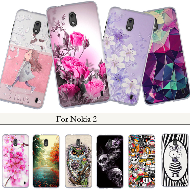 brand new 6a6e7 16350 US $0.99 10% OFF|Phone Cases For Nokia 2 Case For Nokia2 Case Cover Fashion  Cute 3D Flower Back Cover For Nokia 2 Soft TPU Silicone Case Coque-in ...