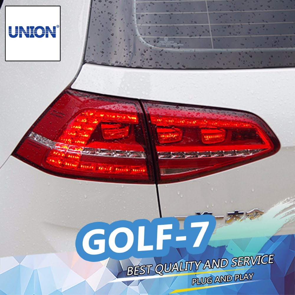 UNION Car Styling for VW Golf 7 Taillights 2013-2014 Golf7 MK7 LED Tail Light Rear Lamp DRL+Brake+Park+Signal Assembly union car styling for 2014 corolla taillights new corolla altis led tail lamp altis rear lamp drl brake park signal led light