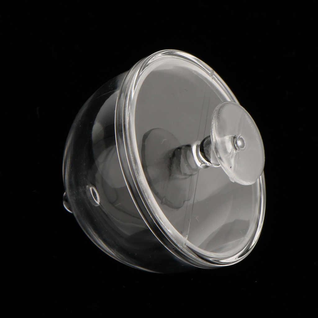 Dollhouse miniatura 1/12 skala wyczyść przekąska deserowa puszka z półokrągłe/półokrągłe wieczko udawaj zagraj w klasyczne zabawki kuchenne dla dzieci