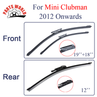 KIT Silicone Rubber Front And Rear Wiper Blade For Mini Clubman 2012 Onwards Windscreen Wiper Car