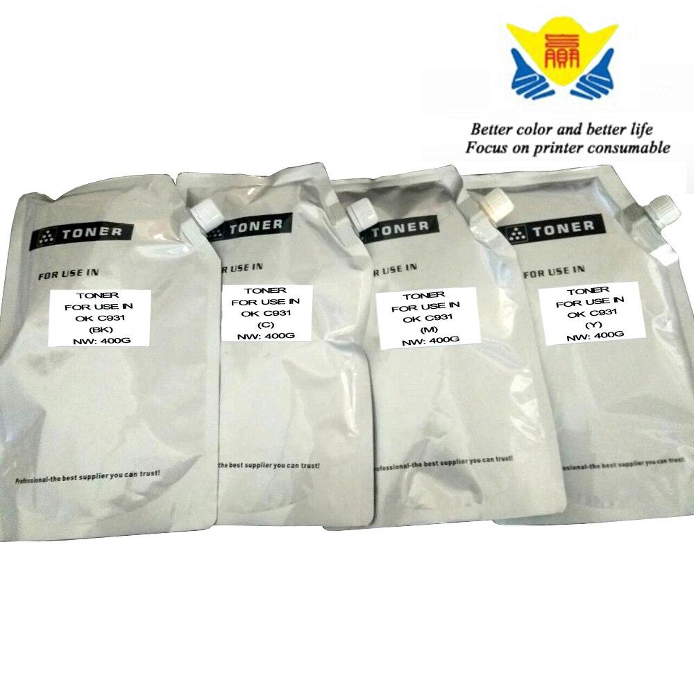 JIANYINGCHEN Compatible Color Toner Powder For OKI C911 C931 C941 4bags lot 400g per bag